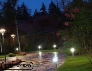 Встановлення ландшафтних світильників :: Ціни у Львові