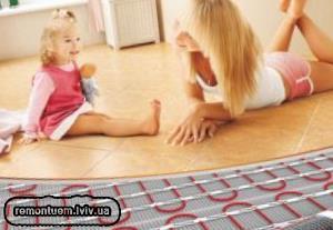 Монтаж теплої електричної підлоги у Львові
